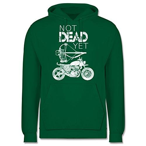 Statement Shirts - Not Dead Yet - Motorrad Armbrust - Männer Premium Kapuzenpullover / Hoodie Grün
