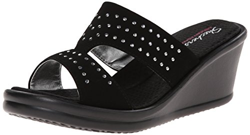 Skechers Damen Rumblers-Hope Floats Plateausandalen, Schwarz (Bbk), 37 EU