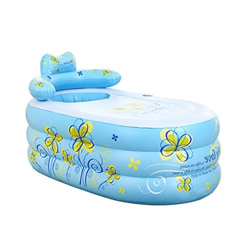 PIGE Tubble Aufblasbare Badewanne Erwachsene Größe Portable Home Spa, Bequemes Bad, Qualität Wanne ( Farbe : Blau , größe : 160*90*75cm )