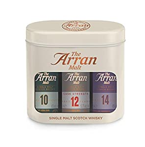 The Arran Single Malt Scotch Whisky Gift Tin (3 x 5cl Miniature Bottles) from Isle of Arran Whisky Distillers