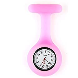 Pink Infection Control Silicone Health Care Workers Nurses Fob Watch by VAGA®