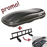 Coffre de toit Marlin 680L noir + porte-skis pour coffre de toit