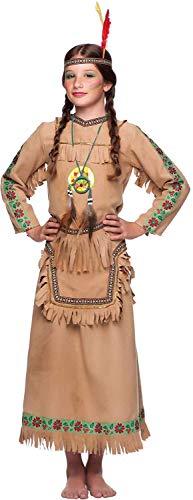 Kostüm Indian Apache - chiber - Indian Squaw Kinder Kostüm (7-8 Jahre)