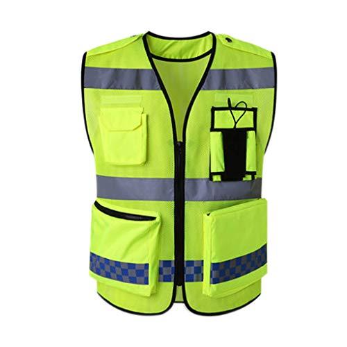 XBQXF Giubbotto Catarifrangente, Tuta da Lavoro Riflettente per Abbigliamento da Costruzione