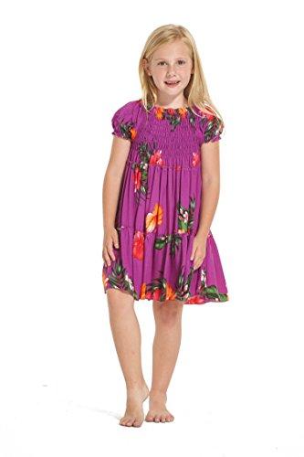 Nia-hawaiano-Juego-de-vestidos-y-pantalones-a-juego-en-Floral-prpura-Tamao-8