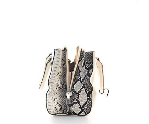 Damen Handtasche, Diese Schultertasche gibt es in de Variationen Schwarz, Rot, Rosa, Grün, Beige,und Khaki Beige