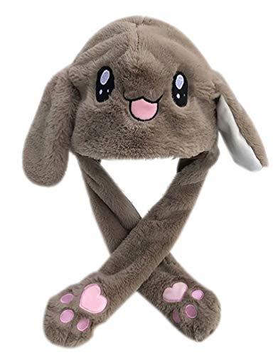 unny Hat Beweglicher Kaninchen Ohr Hut Funny Plüsch Tier Hut Kreatives Geschenk Spielzeug ()