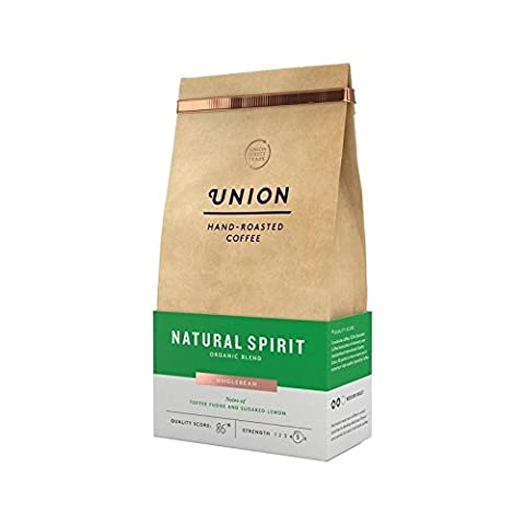 Union Coffee Organic Medium Roast Coffee Beans - Natural Spirit 200g - Pack of 6