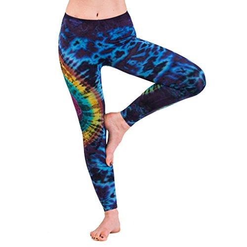 Panasiam® Legging, super weich & stretchy, knallig bunte Farben, Unisize passt M & L, TOP QUALITÄT, in vielen Styles !! TD13 Blaubunt