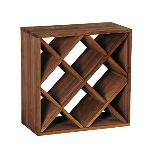 Cantinetta / scaffale per vino / sistema cube 50, legno massiccio, modulo a rombo - a 50 x l 50 x p 25 cm