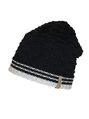 Norton Mütze Beanie Streifen (schwarz)