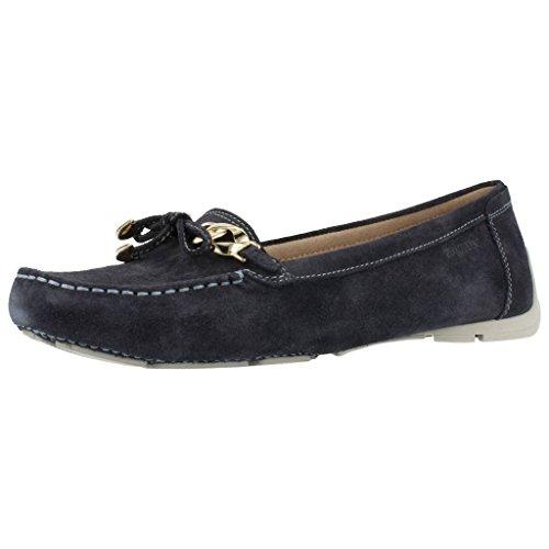 Stonefly 104640 Azuis Absolutos Senhoras De Conforto Sapatos Baixos Sapatos Terminal Blu