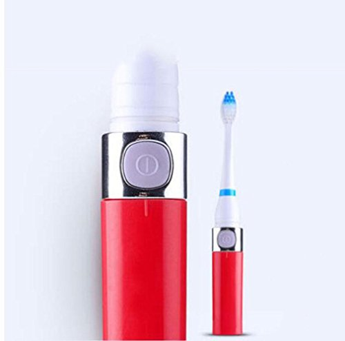 Baby Vibration Zahnbürste (XIAOLI&Elektrische Zahnbürste Induktionsladung Erwachsener Elektroschock Vibration Sound smart home schwarz Gold , black6)