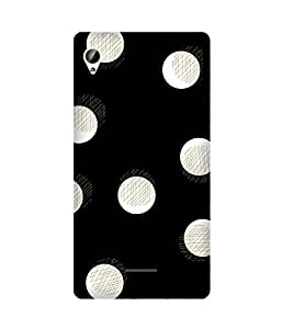 White Dots Golden Intex Aqua Power Plus Printed Back Cover