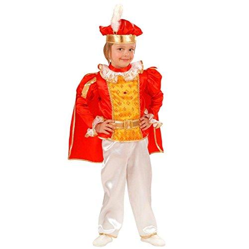 Kleiner König Kostüm Prinz Kinderkostüm 98 cm Prinzenkostüm Edler Märchenprinz Jungenkostüm Prince Kind Faschingskostüm Edelmann Märchenkostüm (Für Jungen Märchenprinz Kostüme Der)