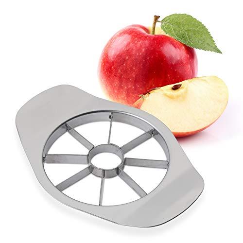 Relaxdays Apfelschneider, 8 Apfel Spalten, für Äpfel und Birnen, Profi Obstschneider, Edelstahl...