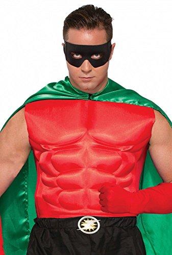 shoperama Accessoires für Superhero Herren Kostüm, Muskelshirt Rot