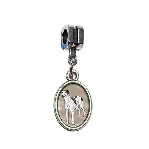 Greyhound - Dog Pet Italian European Euro Style Bracelet Charm Bead - Fits Pandora, Biagi, Troll, Chamilla, Others by Graphics and More