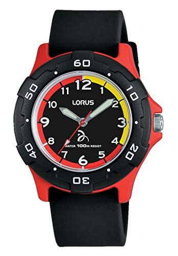 Lorus Jungen Analog Quarz Uhr mit Silikon Armband RRX11GX9