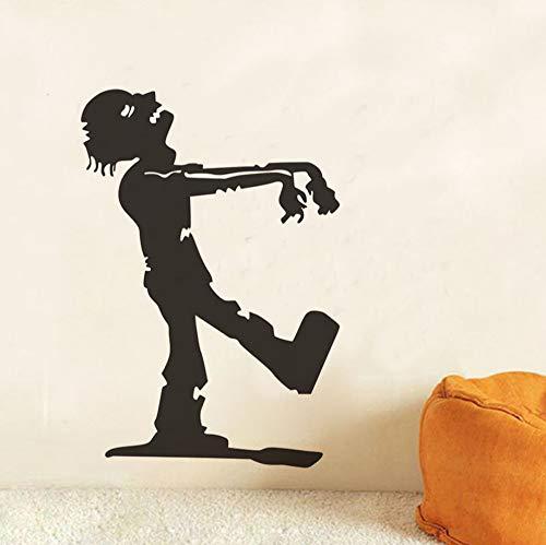 smydp Zombie Halloween Wandaufkleber Für Kinderzimmer, Hallowmas Zu Fuß Zombie Selbstklebende Wandtattoo Dekoration Zubehör58X84 Cm