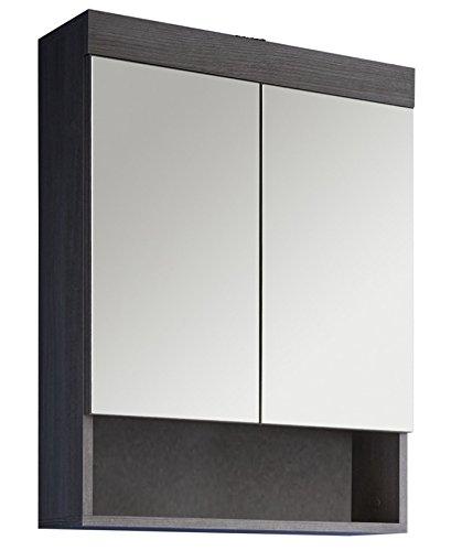 Trendteam RN50121–Espejo de baño con espejo, plata ahumada, 58x 75x 18cm