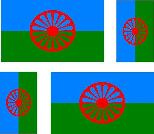 4-x-Autocollant-sticker-voiture-moto-valise-pc-portable-drapeau-roms