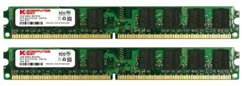 Komputerbay 2GB (2X 1GB) DDR2 800MHz PC2-6300 PC2-6400 (240 PIN) DIMM Memoria Desktop con semiconduttori Samsung