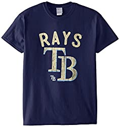 MLB Tampa Bay Rays Men's 58W Tee, Navy, Medium