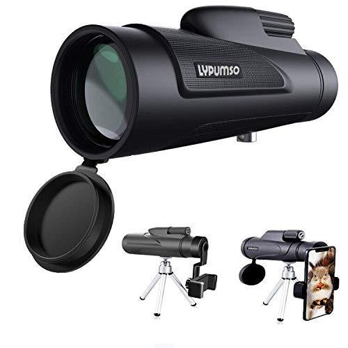 12X50 monokulare teleskop,Lypumso HD Fernglas mit Handy Halterung und Stativ , Langstreckenschießen, wasserdicht stoßfest, geeignet für Camping-Vogelbeobachtungs-Fußballkonzerte