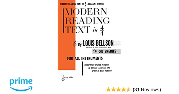 Modern Reading Text in 4/4: For All Instruments: Amazon co uk: Louis