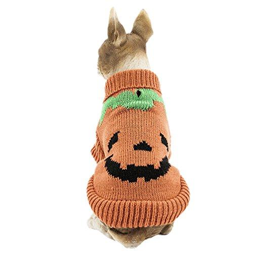 YiJee Haustier Hund Halloween Gestrickte Pullover Kleine Hundchen Warme Strickwaren Kleidung Als Bild (In Mops Bilder Kostümen)