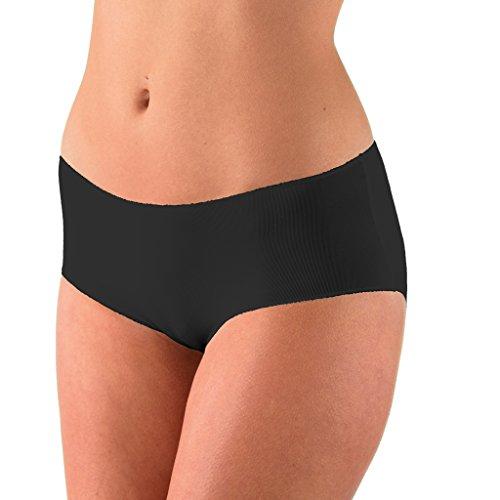 von C. - Secret - Hipster - Damen-Slip - Größe 36-46 - Weiß Schwarz Haut Creme (38, Schwarz) ()