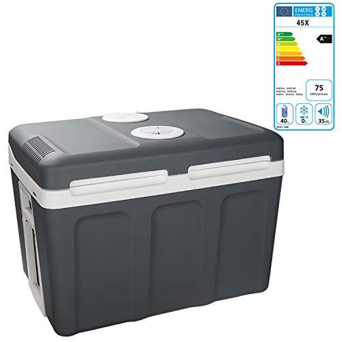 Hengda 45 Liter Kühlbox, WÄRMT und KÜHLT, tragbare thermo-Elektrische Kühlbox 12 V und 230 V, Mini-Kühlschrank für Auto, Lkw, Camping, Steckdose Energieklasse (Mini Kühlschrank Camping)