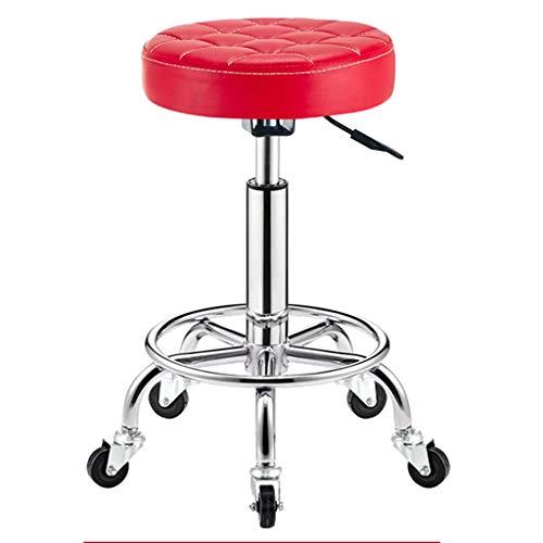 Dreh- & Arbeitshocker Stühle Büromöbel Barhocker Drehstuhl Bürostuhl Verstellbarer Stuhl für zu Hause 360 ° Drehrollenstuhl Galvanikrahmen Drehstuhl Schönheitsrollstuhl
