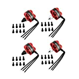 4 Stücke Für DXW C2206 2200KV 2-4 S CW/CCW 5mm Brushless Motor Für RC Racing Drone Multicopter Quadcopter 5043/6040 Propeller