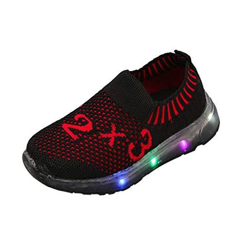 Sannysis Kinder Kind Mädchen Jungen LED Licht Anzahl Leucht Sport Mesh Schuhe Turnschuhe
