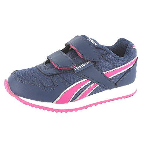Reebok Cl Real Corredor 2v V63294 Unisex - Crianças Ostenta Sapato Azul Escuro-rosa