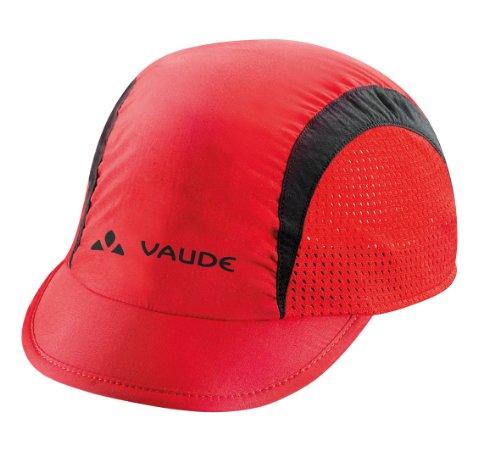 VAUDE Muetze bike ii - Gorra de acampada y senderismo, talla única, color rojo