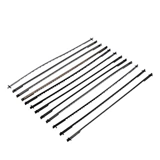 Voraca 12Pcs Pinned Black Scroll Saw Blades Woodworking Power Tools Accessories