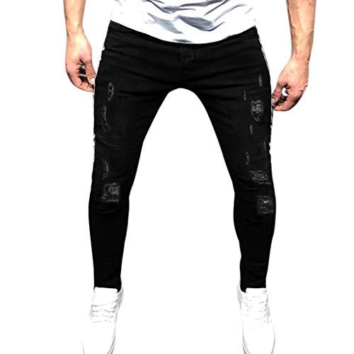 Setsail Herrenmode Denim Baumwolle Straight Hose Distressed Jeans Lange Hose
