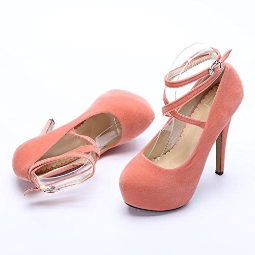 f06c69ddfb6291 Femme Sexy 2 Aiguille Pêche Plateforme Bride Escarpins Chaussures Soiree  Cheville Talon Lacets Ochenta Fermeture Epais Club AH1x4qdw4I