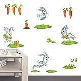 SLFNA Stickers muraux Carottes Décor DIY Affiche Bébé Pépinière Accueil...