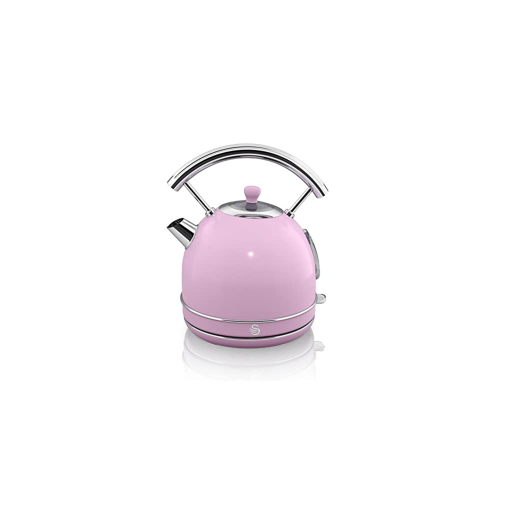Swan SK34020PN Retro Dome Pink Kettle 1.7 Litre