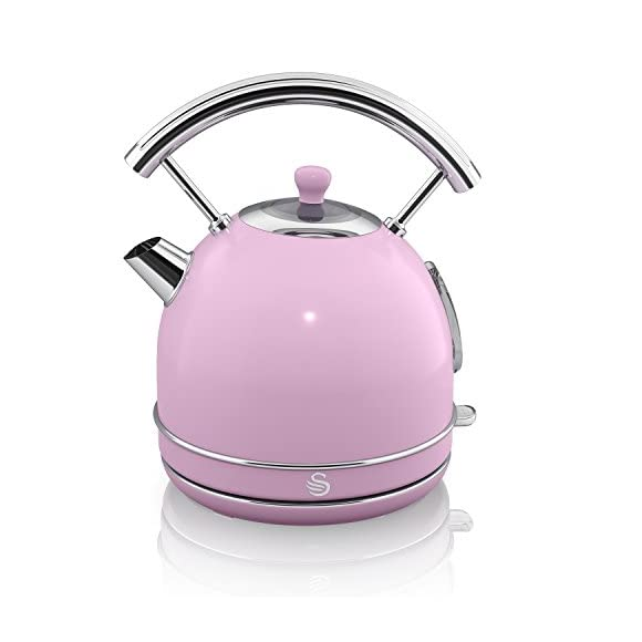 Swan SK34020PN Retro Dome Pink Kettle 1.7 Litre