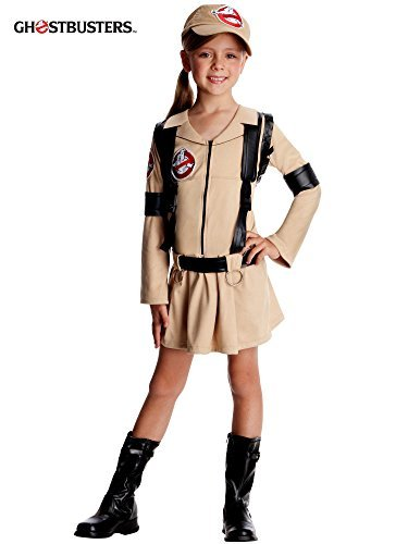 """Ghostbusters Costume, Kids Girl Ghostbuster Classic Outfit, Medium, Age 5 - 7, HEIGHT 4' 2"""" - 4' 6"""""""