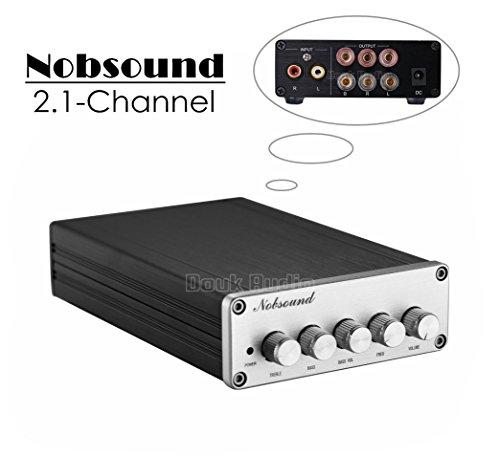 41%2BQx3QA19L - Nobsound HiFi TPA3116D2 2.1 Channel Digital Audio Power Amplifier Stereo Amp 2×50W+100W Subwoofer Treble Bass…