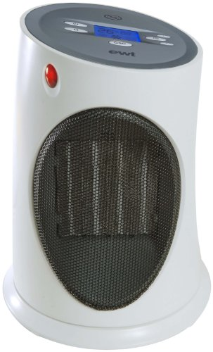 EWT Ceramic C120LCD Keramikheizer / 2000 Watt / beleuchtetes LC-Display/ Grob-Luftfilter/ Kontroll-Leuchte / blau