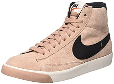 Nike Damen Blazer Mid Vintage Suede Hohe Sneaker, Pink (Particle Pink/Black-Ivory-Gum Medium Brown), 36.5 EU