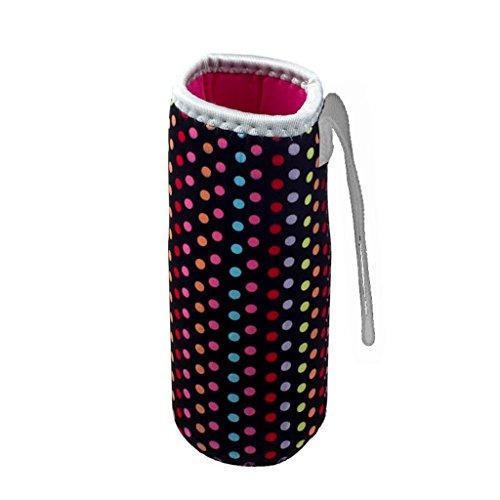 Flasche Taschen, WEANT Warm Wärmedämmung 500ml Wasser Flasche Staubbeutel Thermos Cup Tasche Colorful leicht zu reinigen Griff Design Schwarz