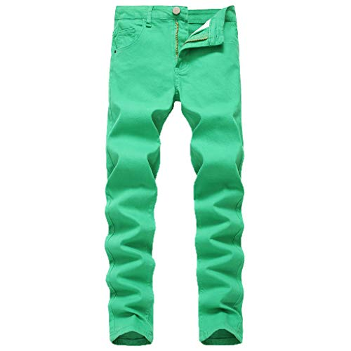 Dwevkeful Jeanshose Herren Slim Fit Skinny Stretch Denim Casual Stylischer Jogger Hosen Lang Trousers Elastische Sporthose Regular GrüN -